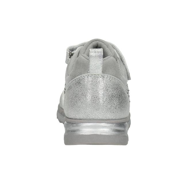 Srebrne trampki dziewczęce zkryształkami mini-b, szary, 329-2295 - 17