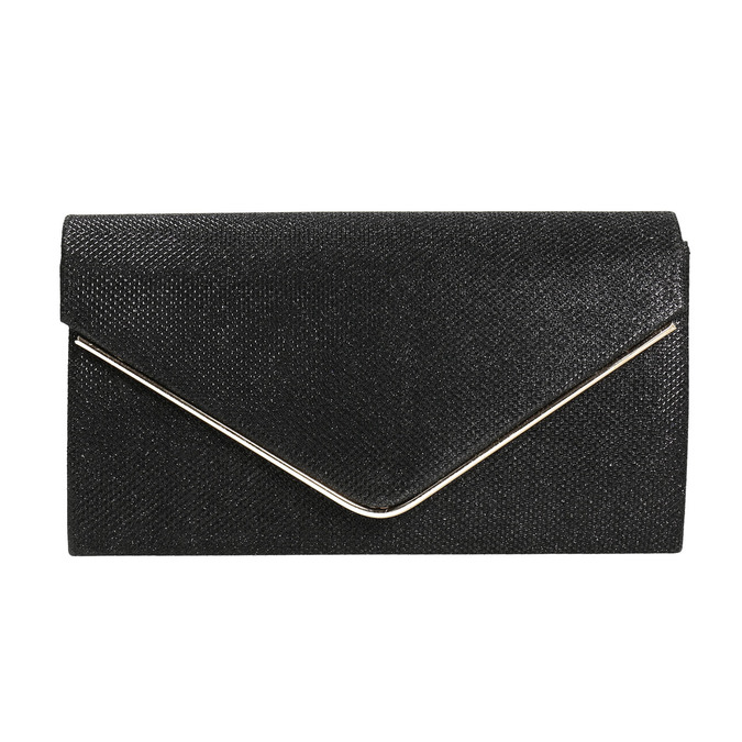 Czarna kopertówka damska bata, czarny, 969-6661 - 17