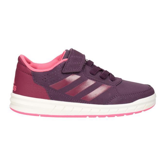 Fioletowe trampki dziecięce adidas, fioletowy, 301-5194 - 26
