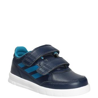 Trampki dziecięce na rzepy adidas, niebieski, 101-9161 - 13