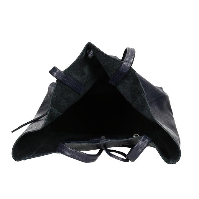 Skórzana torba damska wstylu shopper bata, niebieski, 964-9122 - 15