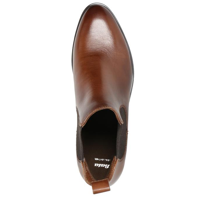 Skórzane buty damskie typu chelsea bata, brązowy, 594-4635 - 19