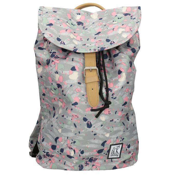 Plecak wkolorowy deseń, szary, 969-2080 - 26