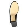 Kozaki damskie na rozszerzanym słupku bata, czarny, 799-6664 - 19