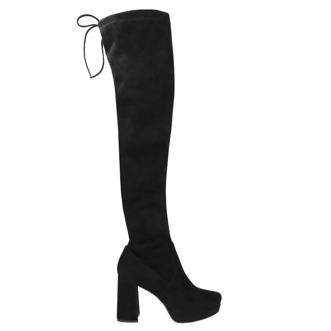 Czarne kozaki damskie za kolana bata, czarny, 799-6663 - 15