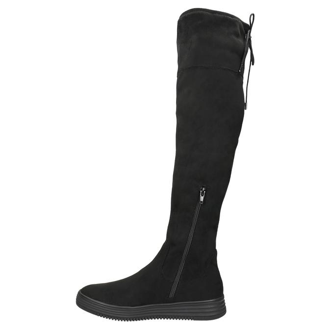 Czarne kozaki damskie za kolana bata, czarny, 699-6634 - 26