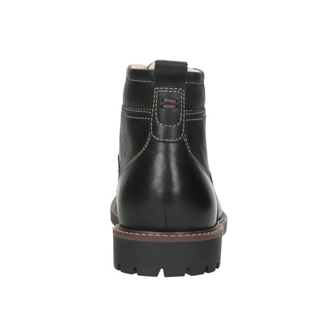 Skórzane buty zimowe bata, czarny, 894-6642 - 16