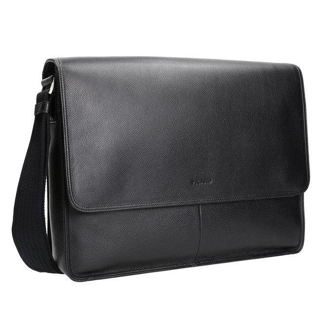 Skórzana torba z klapą picard, czarny, 964-6098 - 13