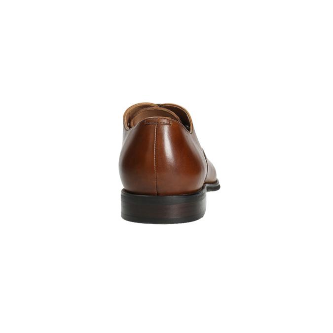Skórzane półbuty typu oksfordy ze zdobieniami bata, brązowy, 826-3690 - 17