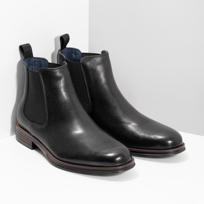 Skórzane obuwie typu Chelsea bata, czarny, 894-6400 - 26