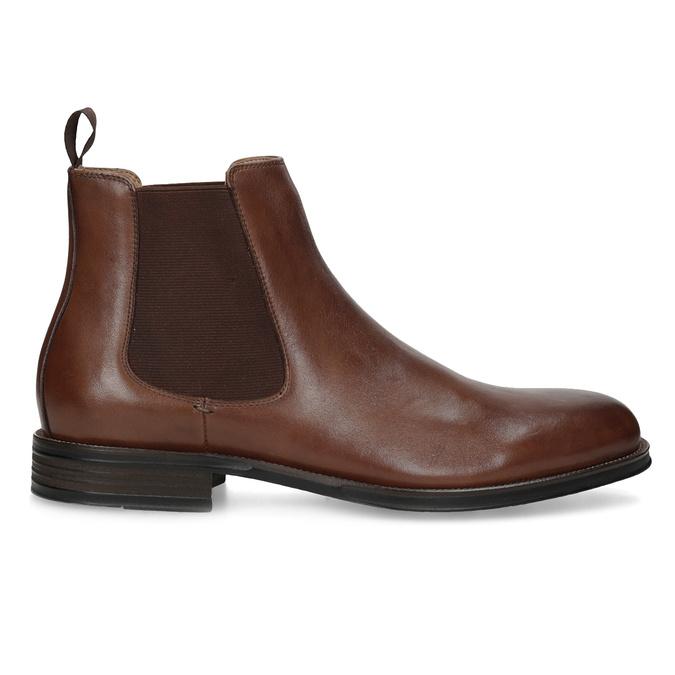 Brązowe skórzane obuwie typu chelsea bata, brązowy, 896-3400 - 19