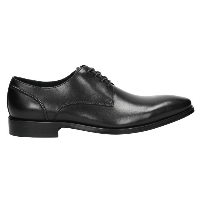 Czarne skórzane półbuty typu angielki bata, czarny, 824-6405 - 15