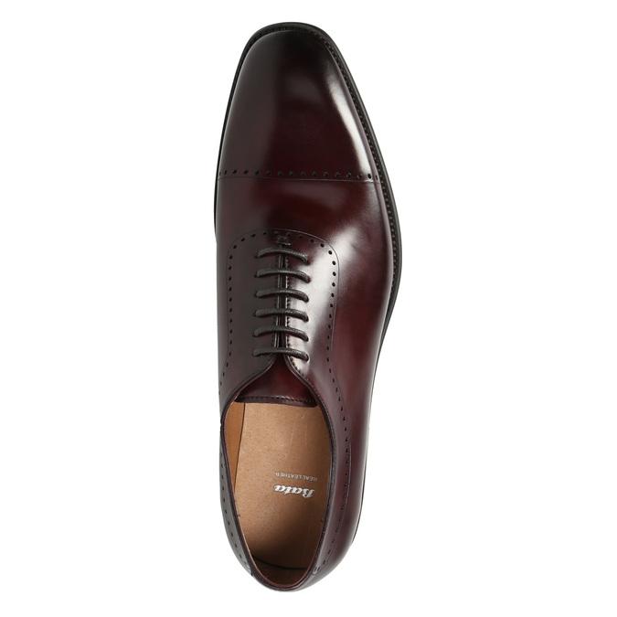 Skórzane półbuty męskie typu oksfordy bata, czerwony, 826-5683 - 26