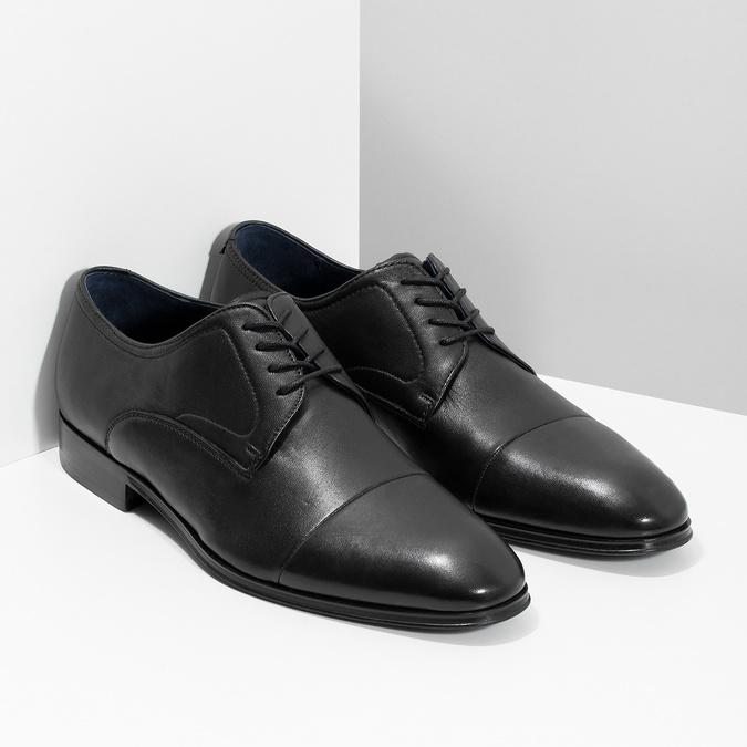 Skórzane półbuty męskie typu angielki bata, czarny, 824-6406 - 26