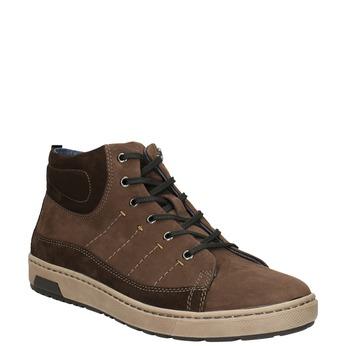 Trampki męskie za kostkę bata, brązowy, 846-4651 - 13