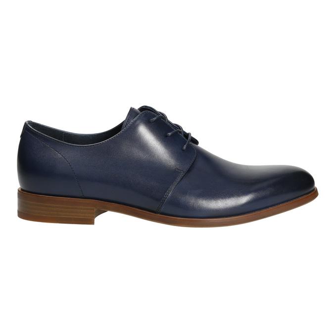 Niebieskie skórzane półbuty bata, niebieski, 826-9680 - 15