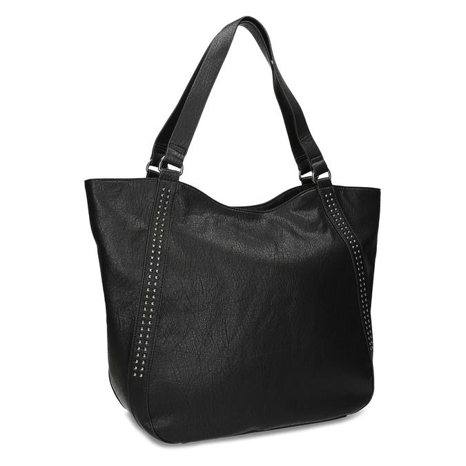 Czarna torebka damska zpasami bata, czarny, 961-6787 - 13