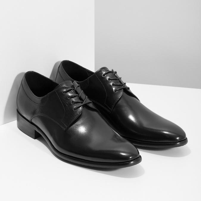 Skórzane półbuty męskie typu angielki bata, czarny, 824-6233 - 26