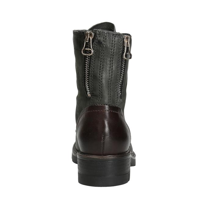 Skórzane buty damskie bata, szary, 596-2616 - 16