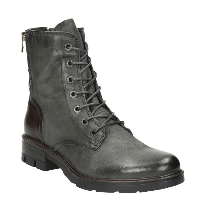 Skórzane buty damskie bata, szary, 596-2616 - 13