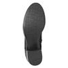 Czarne skórzane kozaki bata, czarny, 696-6646 - 17