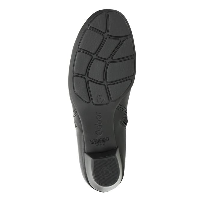 Skórzane buty za kostkę, zzamkami błyskawicznymi gabor, czarny, 614-6122 - 17