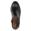 Buty ze skóry za kostkę ze zdobieniem clarks, czarny, 614-6027 - 15
