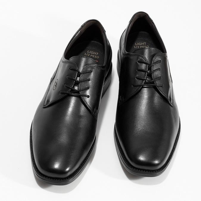 Czarne skórzane półbuty męskie fluchos, czarny, 824-6440 - 16