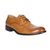 Skórzane półbuty męskie ze zdobieniami brogue bata, brązowy, 824-3227 - 13