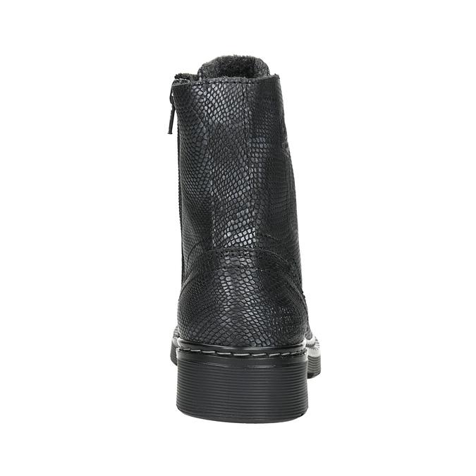 Dziecięce sznurowane buty ze skóry, czarny, 496-6016 - 16