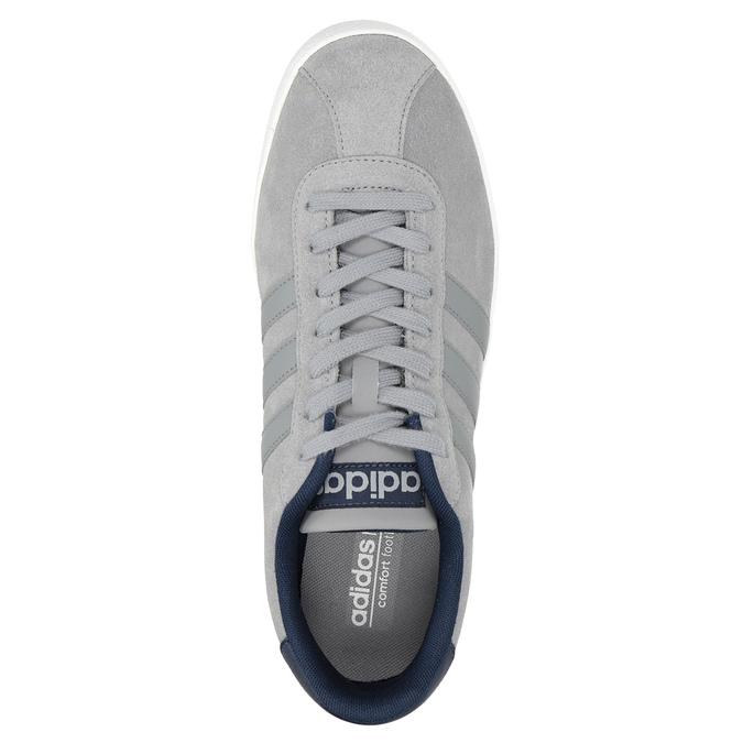 Szare trampki ze skóry adidas, szary, 803-7197 - 15