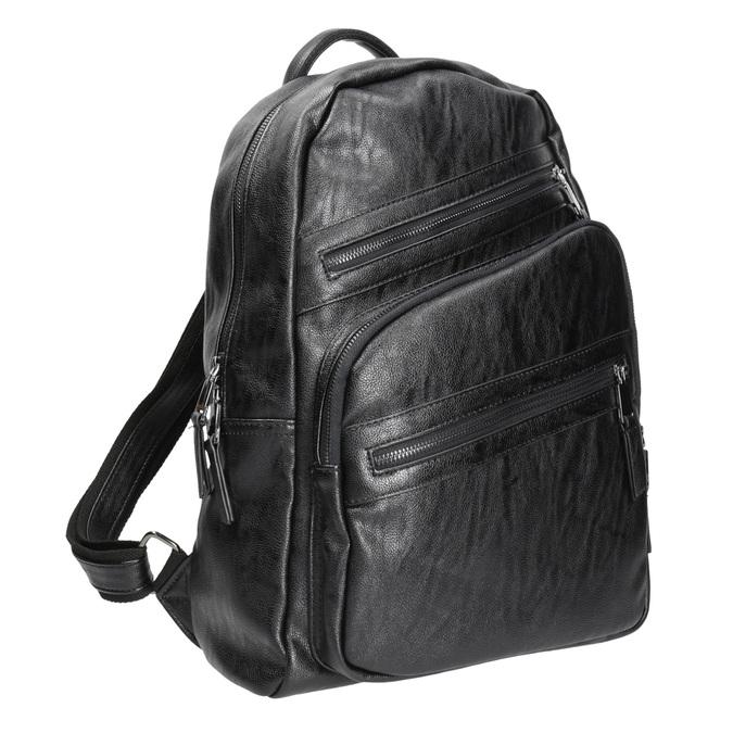 Plecak zzamkami błyskawicznymi bata, czarny, 961-6516 - 13