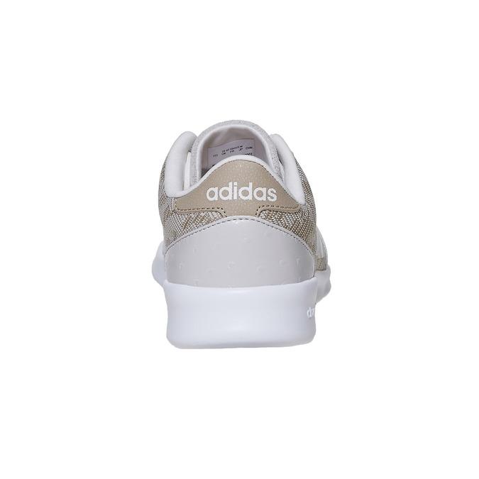 Trampki damskie wdeseń adidas, beżowy, 503-3111 - 17