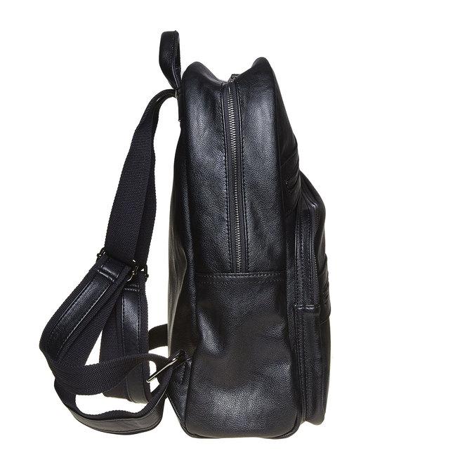 Plecak zzamkami błyskawicznymi bata, czarny, 961-6516 - 17