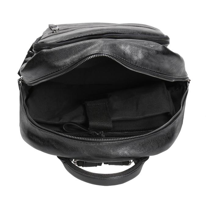 Plecak zzamkami błyskawicznymi bata, czarny, 961-6516 - 15
