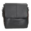 Skórzana torba męska typu crossbody bugatti-bags, czarny, 964-6027 - 26