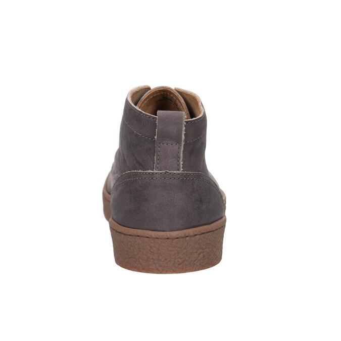 Skórzane buty męskie za kostkę bata, brązowy, 846-4652 - 16