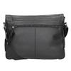 Czarna skórzana torba przewieszana przez ramię bugatti-bags, czarny, 964-6011 - 16