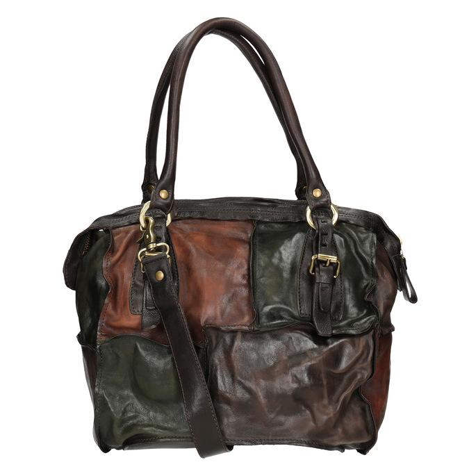 Skórzana torba patchworkowa a-s-98, multi color, 966-0062 - 16