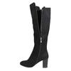 Kozaki zelastyczną cholewką bata, czarny, 699-6635 - 26