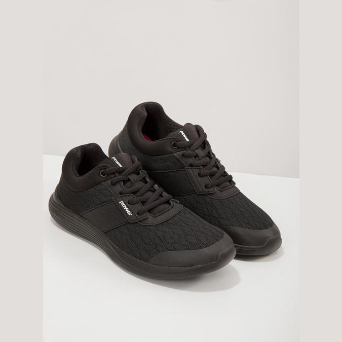 Czarne trampki damskie power, czarny, 509-6203 - 19