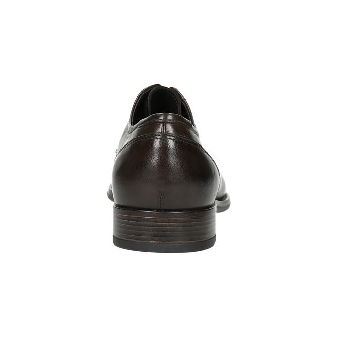 Brązowe skórzane półbuty typu angielki bata, brązowy, 824-4618 - 17