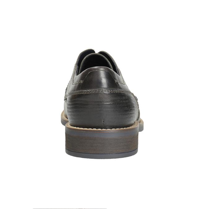 Nieformalne skórzane półbuty zfakturą bata, szary, 826-2612 - 17