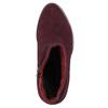 Bordowe skórzane kozaki bata, czerwony, 693-5602 - 26