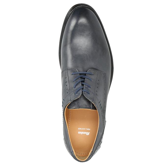 Granatowe skórzane półbuty męskie bata, niebieski, 826-9913 - 26