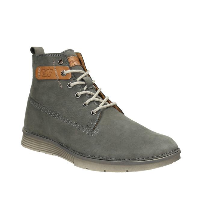 Skórzane buty męskie za kostkę weinbrenner, szary, 846-2656 - 13
