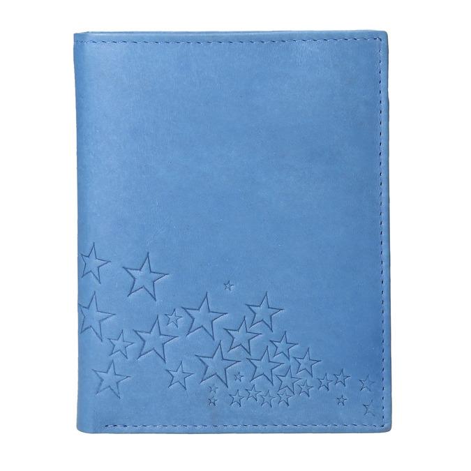 Niebieski portfel skórzany bata, niebieski, 944-9179 - 26