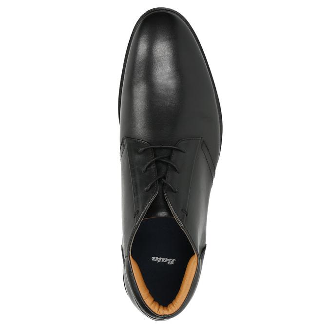 Skórzane buty męskie za kostkę bata, czarny, 824-6913 - 26