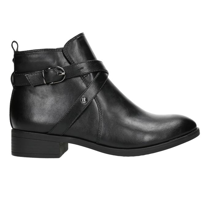 Botki damskie zćwiekami bata, czarny, 591-6620 - 15