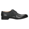 Skórzane półbuty zgranatowymi przeszyciami bata, czarny, 826-6915 - 15